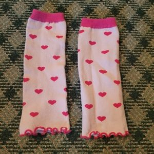 5/$10 Legwarmers 0-24 Month Baby Girl Pink Hearts